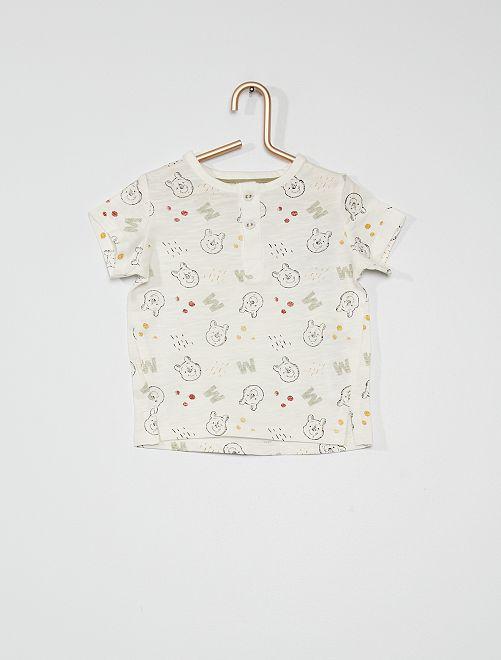 T-shirt 'Winnie l'ourson'                             blanc