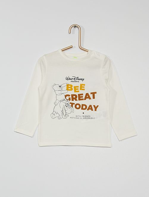 T-shirt 'Winnie l'ourson' éco-conçu                                         blanc
