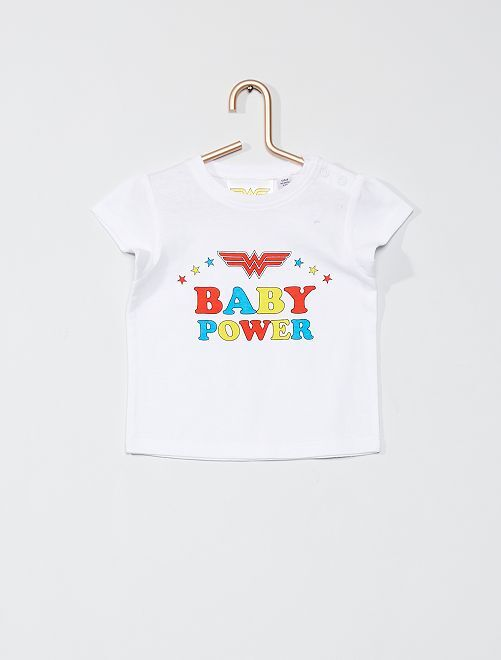 T-shirt 'Wonder Woman'                             blanc