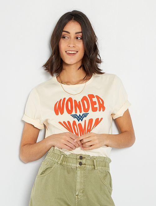 T-shirt  'Wonder Woman'                             écru