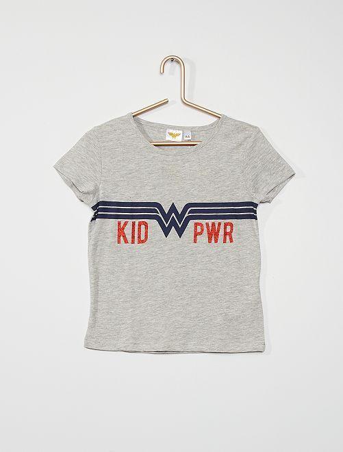 T-shirt 'Wonder Woman'                             gris