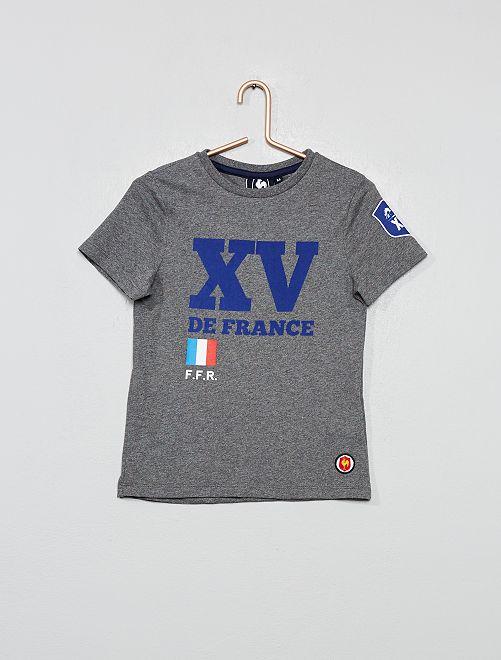 T-shirt 'XV de France'                     gris chiné
