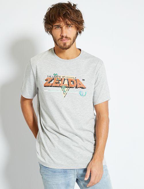 T-shirt 'Zelda'                             gris clair chiné