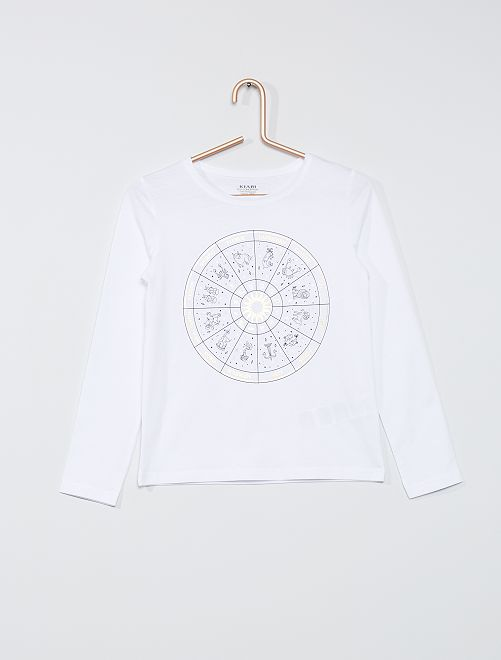 T-shirt 'zodiaque' éco-conçu                                                                                                                 blanc zodiaque