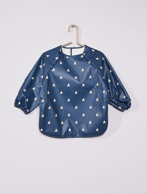 Tablier en polyester imprimé 'étoiles'                                                     bleu