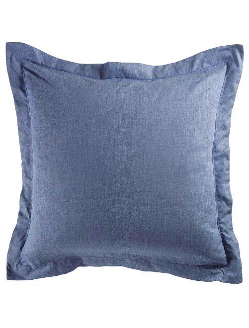 Taie d'oreiller chambray                             bleu