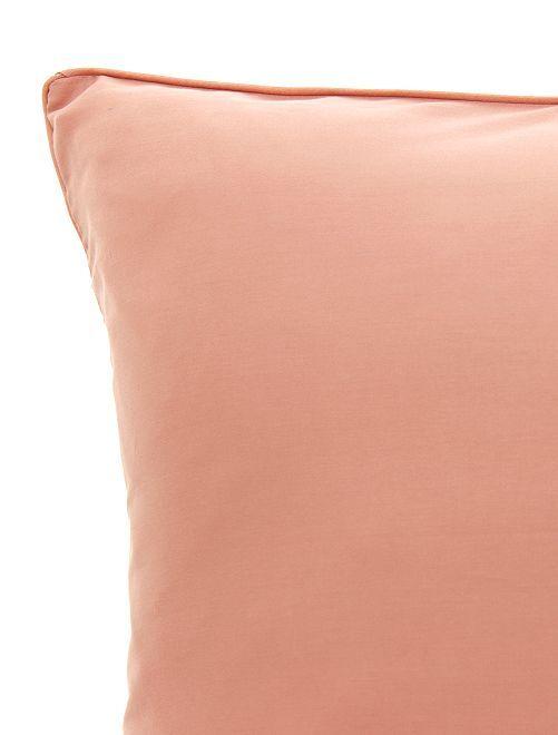 Taie d'oreiller en satin de coton                                 rose