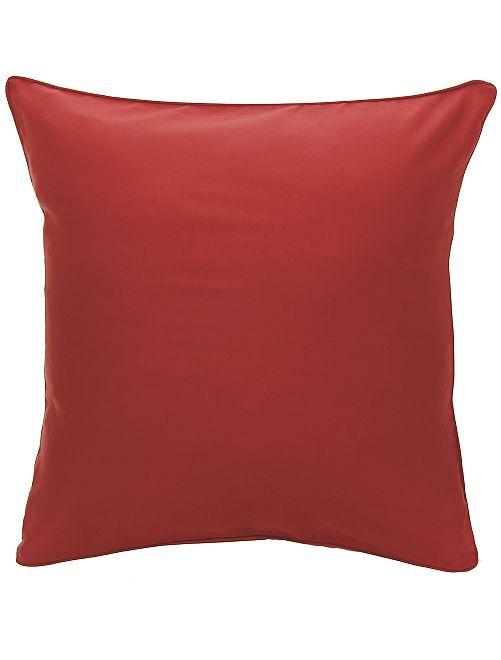 Taie d'oreiller en satin de coton                                         rouge