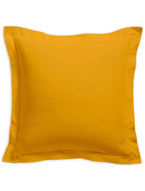 Taie d'oreiller unie 100% coton                                                                 jaune