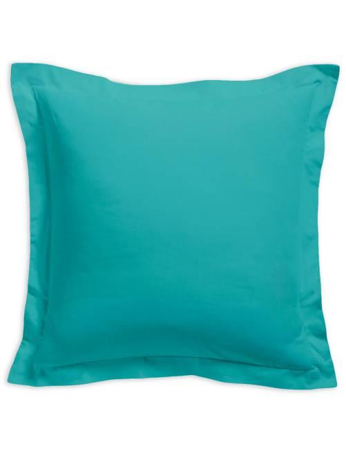 taie d 39 oreiller unie 100 coton linge de lit turquoise kiabi 5 00. Black Bedroom Furniture Sets. Home Design Ideas