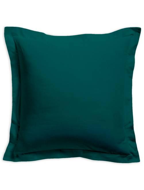 Taie d'oreiller unie 100% coton                                                                 vert émeraude