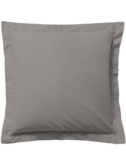 taie d 39 oreiller unie linge de lit gris kiabi 5 00. Black Bedroom Furniture Sets. Home Design Ideas