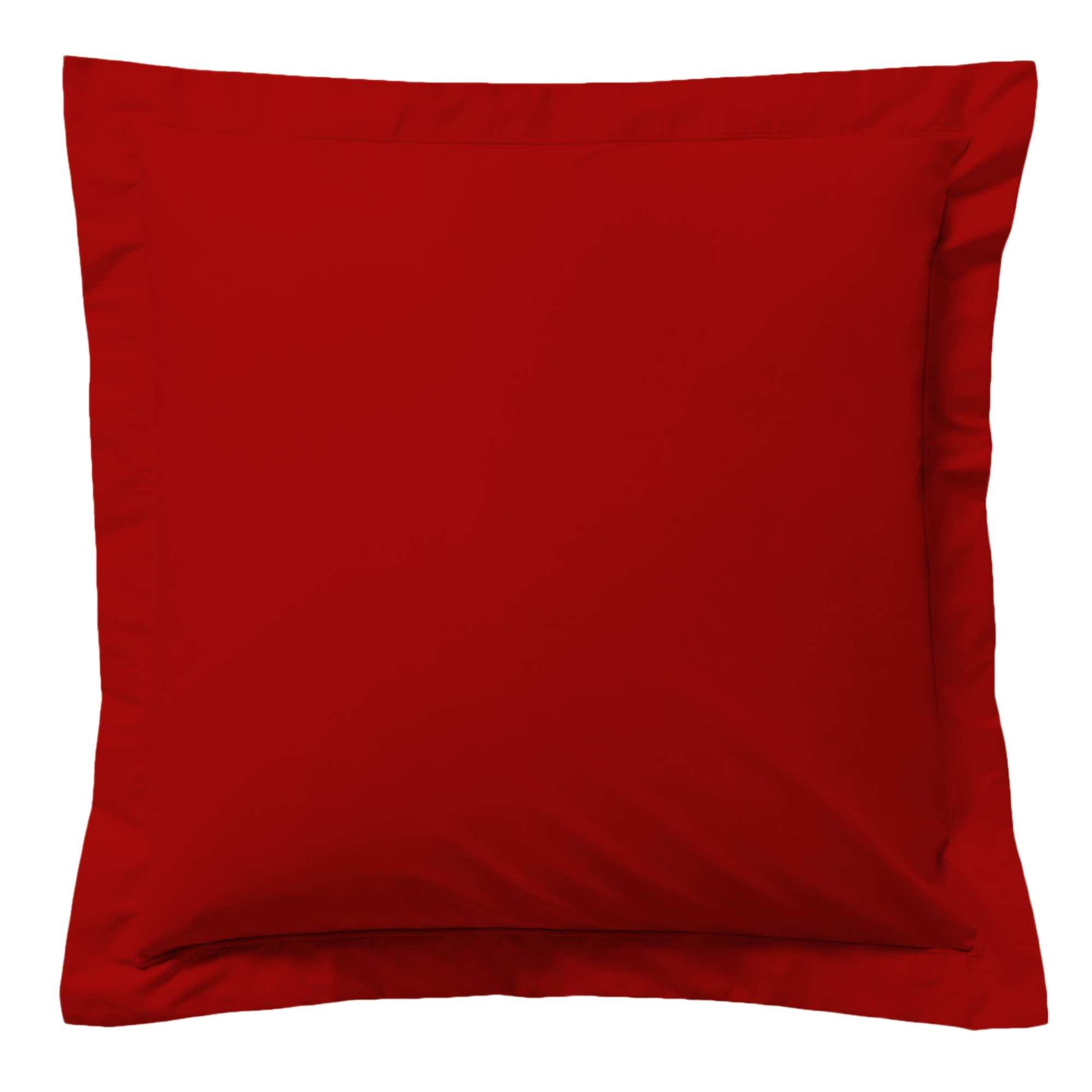 taie d 39 oreiller unie linge de lit rouge kiabi 5 00. Black Bedroom Furniture Sets. Home Design Ideas