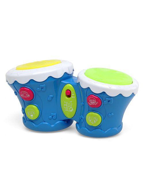 Tambour musical et effets lumineux                             bleu