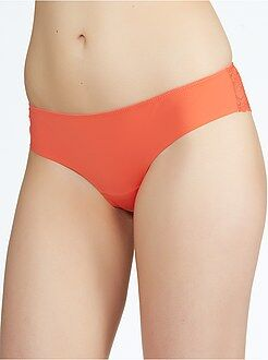 Culotte, shorty, string orange - Tanga dentelle et microfibre