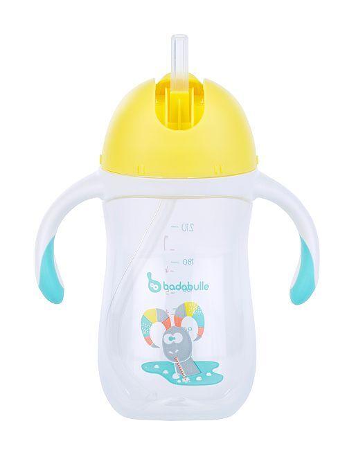 Tasse à paille 'Badabulle'                             jaune/bleu