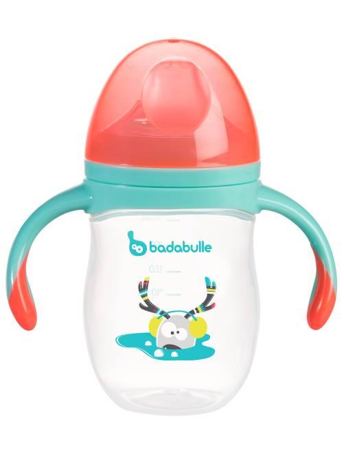 Tasse anti-fuite 'Badabulle'                             rouge/bleu