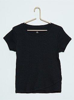 Fille 10-18 ans Tee-Shirt à côtes manches courtes