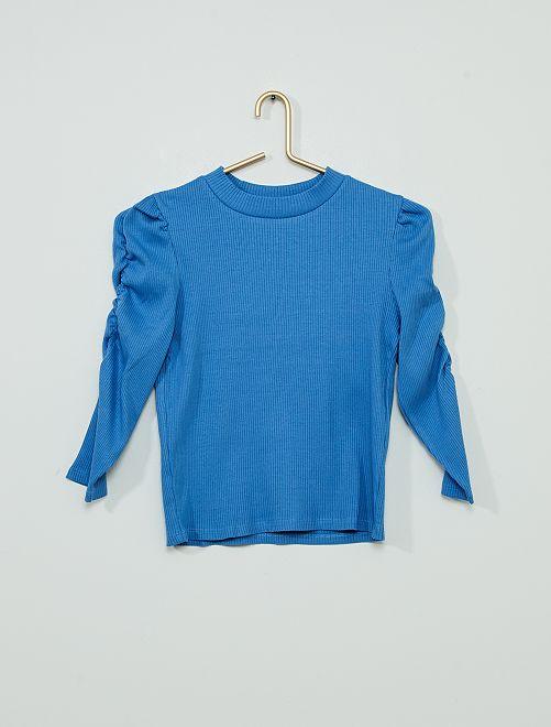 Tee-shirt à manches ballons !                     bleu
