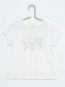 Fille 0-36 mois Tee-shirt à manches courtes impression fantaisie