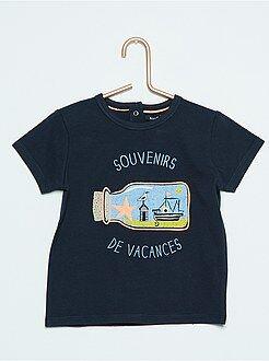 Garçon 0-36 mois Tee-shirt à manches courtes imprimé 'Petits monstres'