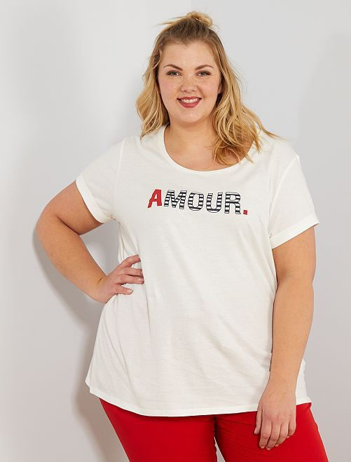 t-shirt femme grande taille
