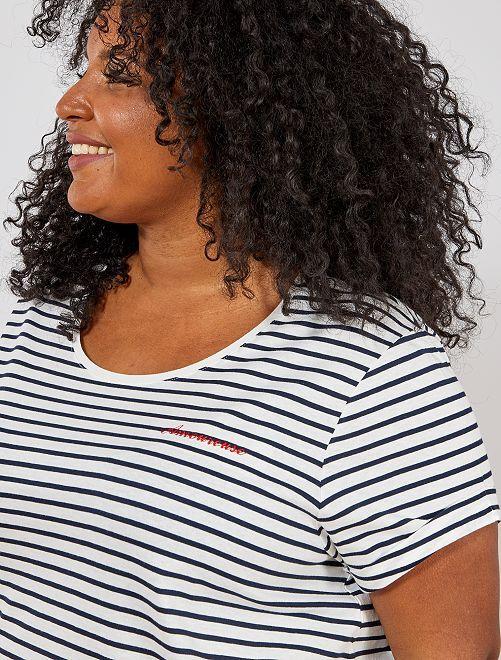 Tee-shirt à message                                                                                                                 blanc imprimé