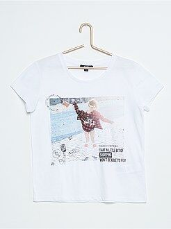 Fille 10-18 ans Tee-shirt ample imprimé