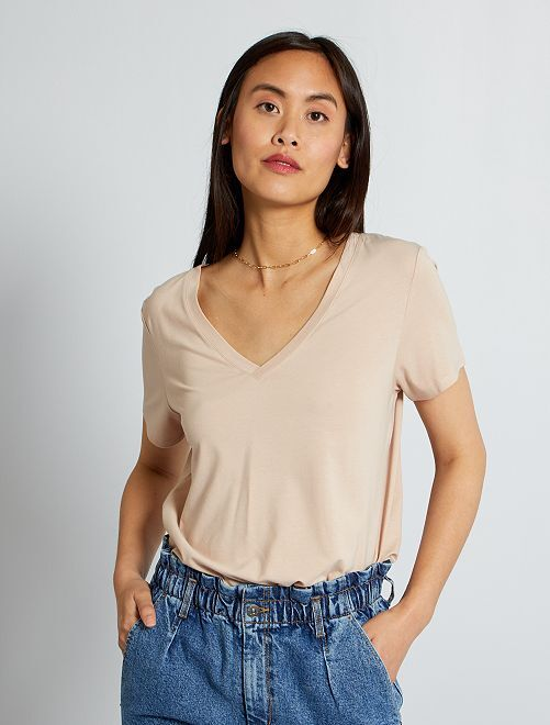 Tee-shirt basique                                                                 BEIGE