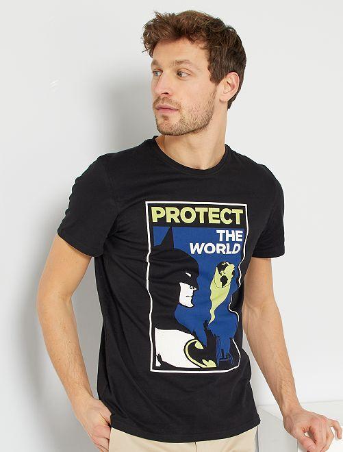 Tee-shirt 'Batman' 'DC Comics'                             noir