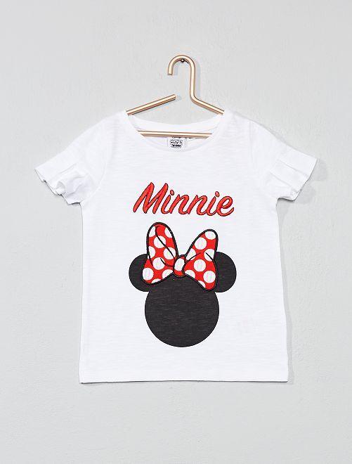 Tee-shirt brodé 'Minnie'                             blanc Fille
