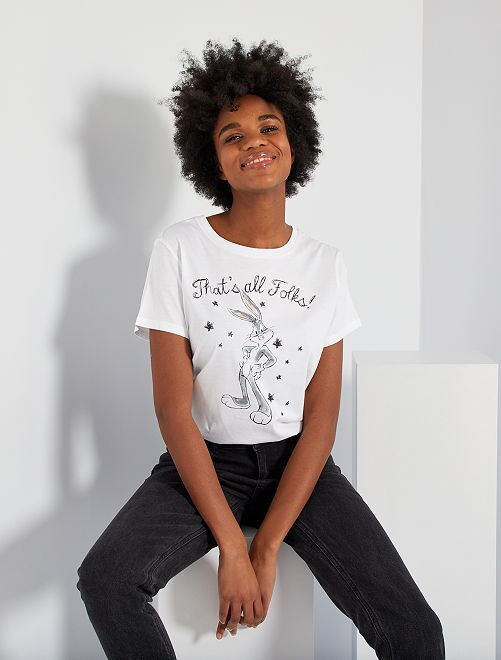 Tee-shirt 'Bugs Bunny'                             blanc