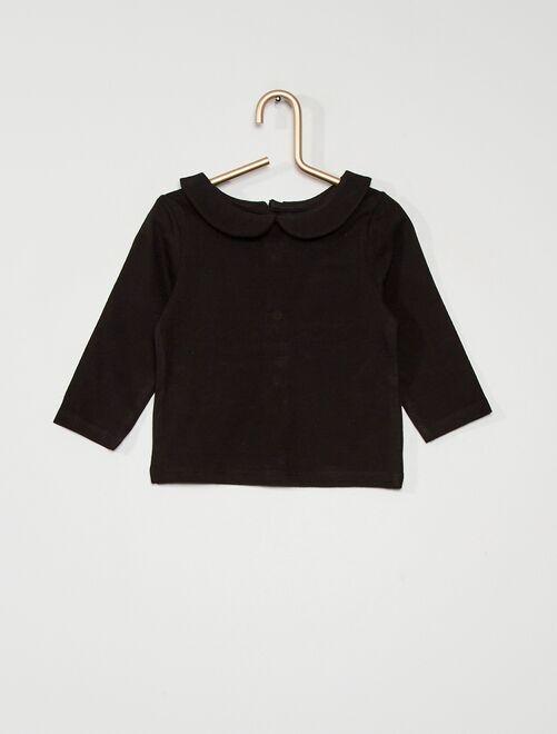 Tee-shirt col Claudine éco conçu                                                     noir
