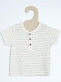 Garçon 0-36 mois Tee-shirt col tunisien
