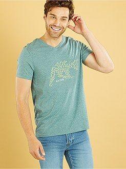 T-shirt imprimé - Tee-shirt col V imprimé 'Renard'