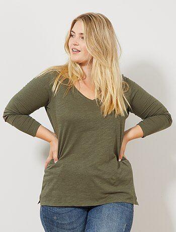 e8109b52e322f T-shirt manches longues pour femme pas cher Vêtements femme | Kiabi