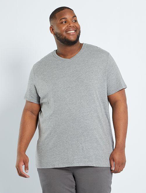 Tee-shirt comfort jersey uni                                                                                                                                                                             gris chiné