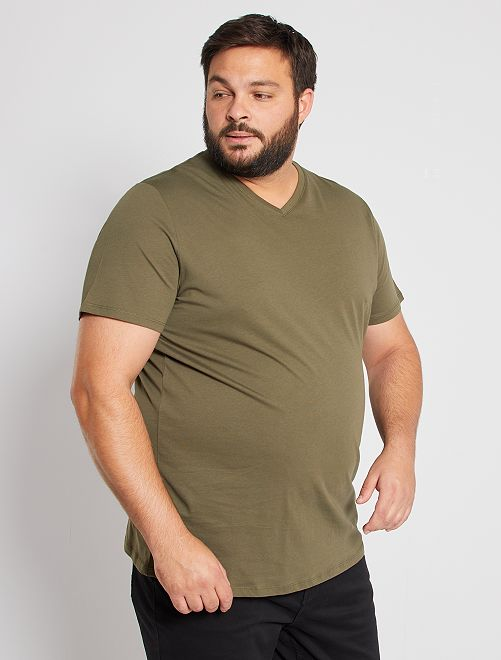 Tee-shirt comfort jersey uni                                                                                                                 kaki