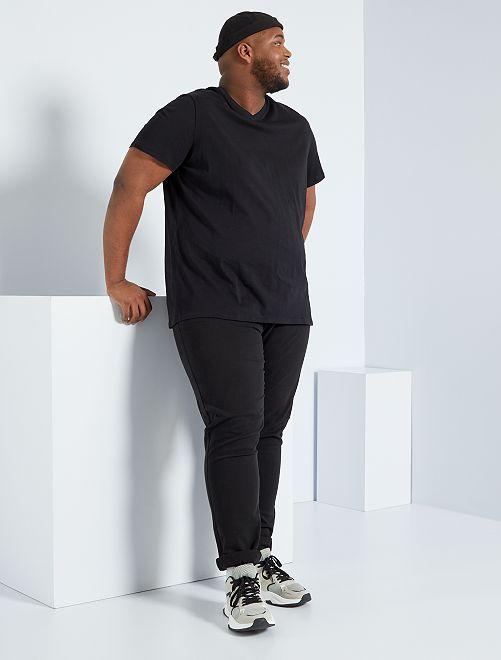 Tee-shirt comfort jersey uni                                                                             noir
