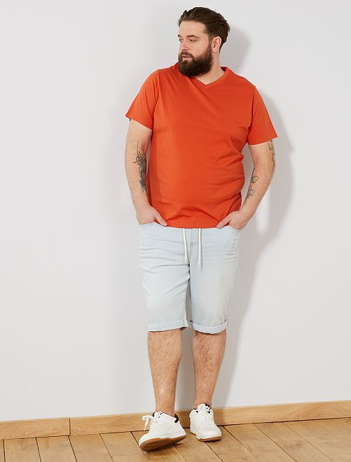 Tee-shirt comfort jersey uni                                                                                                                                                                             orange Grande taille homme