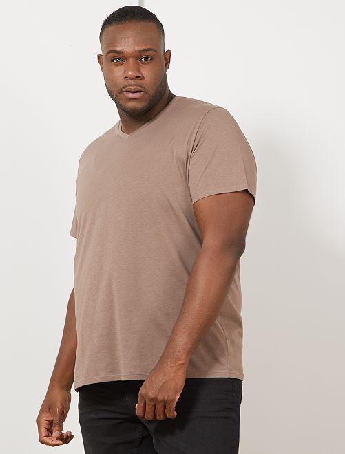 Tee-shirt comfort jersey uni                                                                                                                                                                             taupe