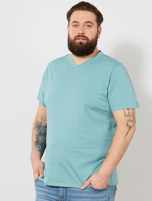 Tee-shirt comfort jersey uni                                                                                                                                                                             vert de gris