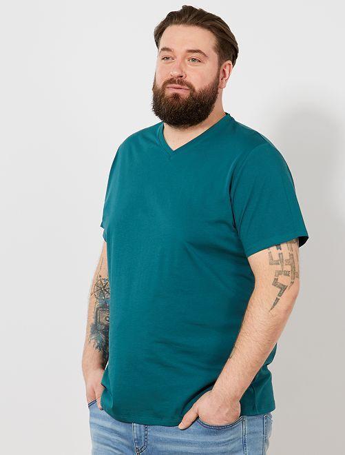 Tee-shirt comfort jersey uni                                                                                                                                                                             vert