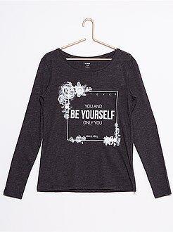 Fille 10-18 ans Tee-shirt coton imprimé