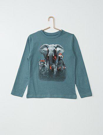 Tee shirt coton imprimé `animaux`
