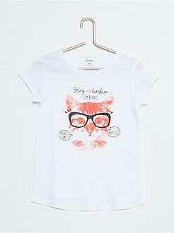 Fille 3-12 ans Tee-shirt coton imprimé