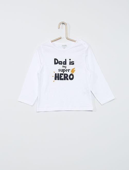 Tee-shirt éco-conçu                                                                                                                                                                 blanc dad