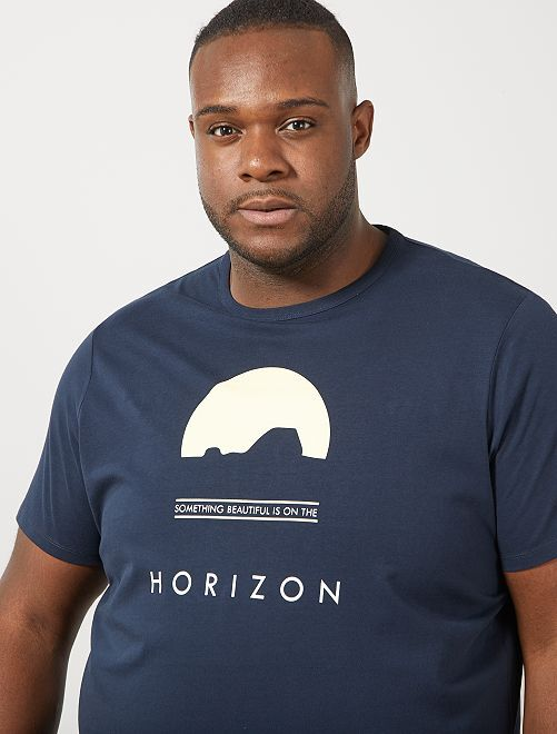 Tee-shirt éco-conçu                                 bleu marine horizon