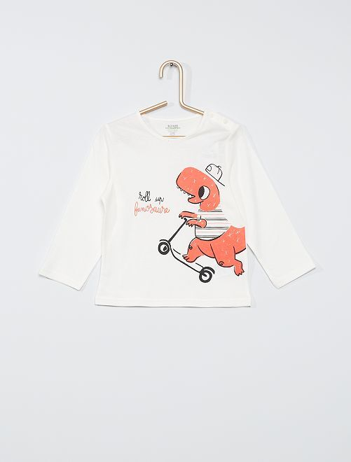 Tee-shirt éco-conçu                                                                                                                                                                 ecru dino