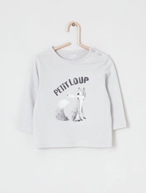 Tee-shirt éco-conçu                                                                                                                                                                             gris loup